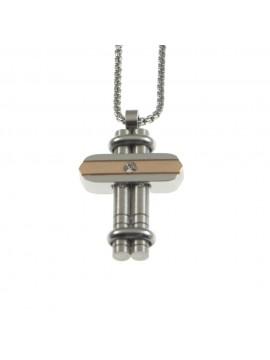 Collana croce uomo in acciaio cll0789