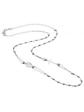 collana rosario in argento 925 - cll1008