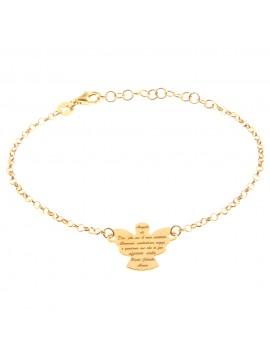 bracciale angelo custode con preghiera in argento 925 bcc2098