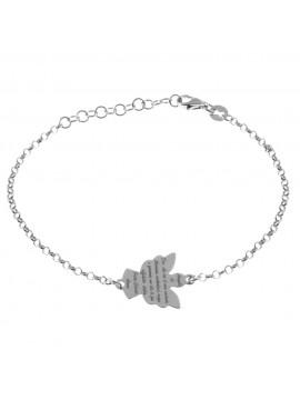 bracciale angelo custode con preghiera in argento 925 bcc2114