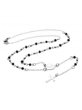 collana rosario in acciaio - cll0940
