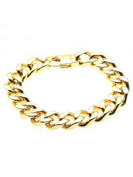 Bracciale uomo dorato grumetta in acciaio bcc0401