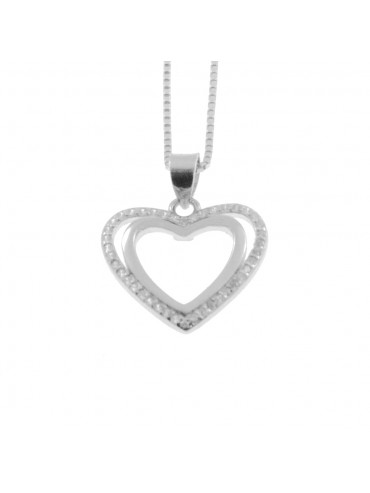 Collana con cuore donna in argento 925 cln0323