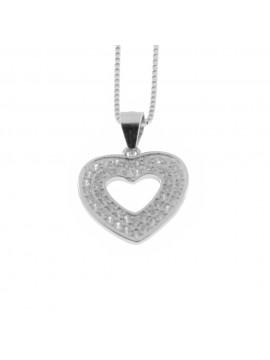 Collana con cuore donna in argento 925 cln0325