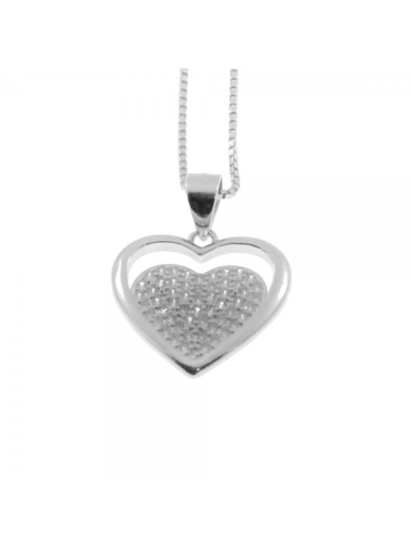 Collana con cuore donna in argento 925 cln0326