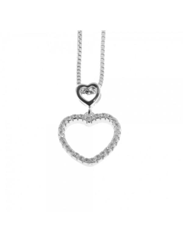 Collana con cuore donna in argento 925 cln0327