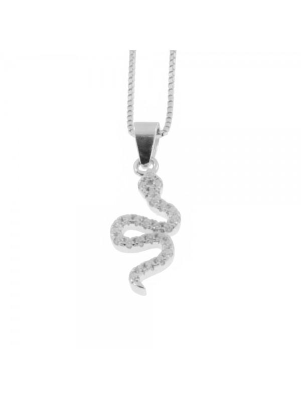 Collana con serpente donna argento 925 cln0329