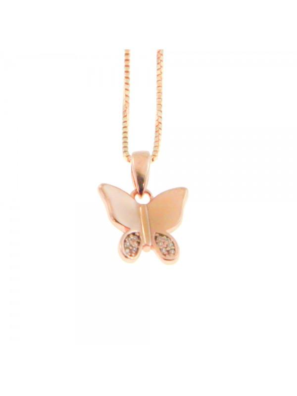 Collana con farfalla donna in argento 925 cln0357