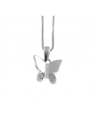 Collana con farfalla donna in argento 925 cln0358