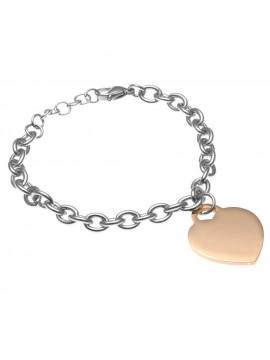 bracciale donna con cuore acciaio bcc1522