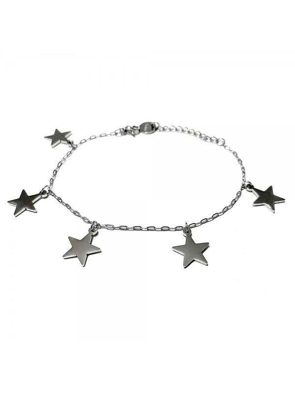 bracciale con stelline donna acciaio bcc0749