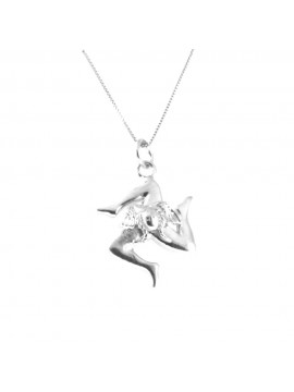 collana trinacria siciliana sicilia argento 925 cll1859