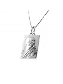 collana san padre pio argento 925 cll1866