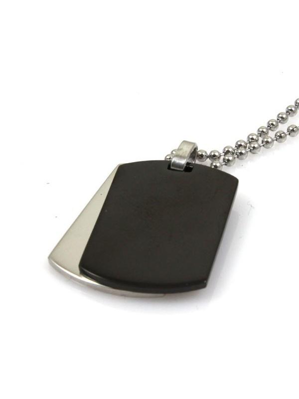 prezzo ragionevole primo sguardo godere del prezzo più basso Collana con doppia piastra in acciaio per incisioni - cln0184