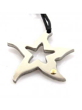 Collana con stella marina in acciaio