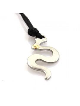 Collana con serpente in acciaio