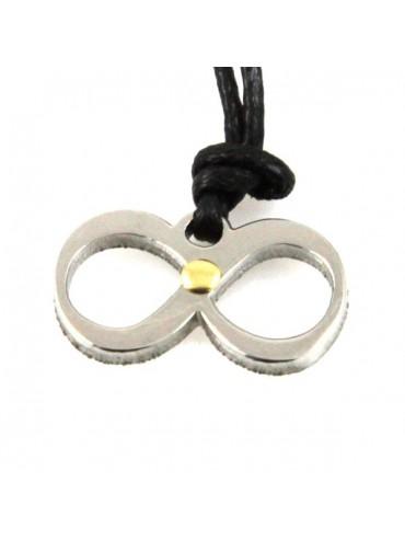 Collana con infinito simbolo in acciaio