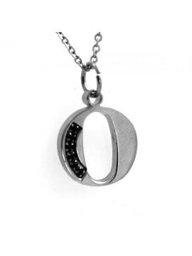 Collana con lettera iniziale o in acciaio